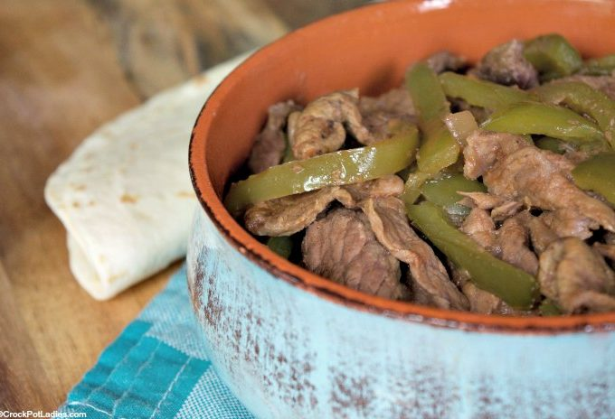 Crock-Pot Beef Fajitas
