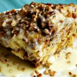 Crock-Pot Cinnamon Sweet Roll Casserole - Your family will love the this recipe for Crock-Pot Cinnamon Sweet Roll Casserole. It's gooey, delicious & easy to make in your slow cooker for breakfast or brunch! | CrockPotLadies.com