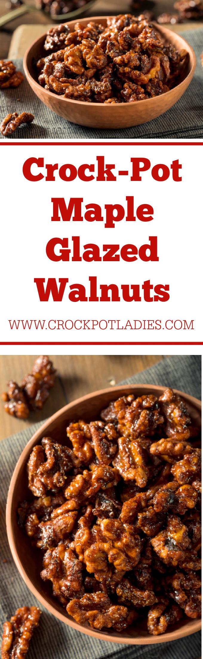 Crock-Pot Maple Glazed Walnuts