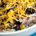 Crock-Pot Taco Chicken Bowls - Bursting with Mexican flavors in this easy recipe for Crock-Pot Taco Chicken Bowls. A quick & easy recipe that can also be made into a freezer meal! [Healthy, Gluten Free, High Fiber, Low Calorie, Low Fat, Low Sugar and just 5 Weight Watchers SmartPoints per serving!] | CrockPotLadies.com