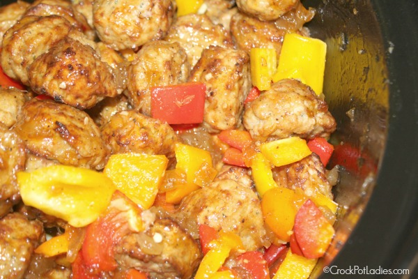 Crock-Pot Hawaiian Meatballs {via CrockPotLadies.com) #SlowCooker #Appetizers #Meatballs #CrockPot