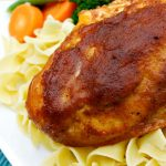 Crock-Pot Applesauce Chicken - Mix up an easy sauce of applesauce, BBQ sauce, brown sugar and spices and pour it over chicken breasts in this quick and easy recipe for Crock-Pot Applesauce Chicken. Bonus points it can easily be made into a slow cooker freezer meal! [Gluten Free, Low Calorie, Low Fat & only 7 Weight Watchers SmartPoints per serving!] | CrockPotLadies.com