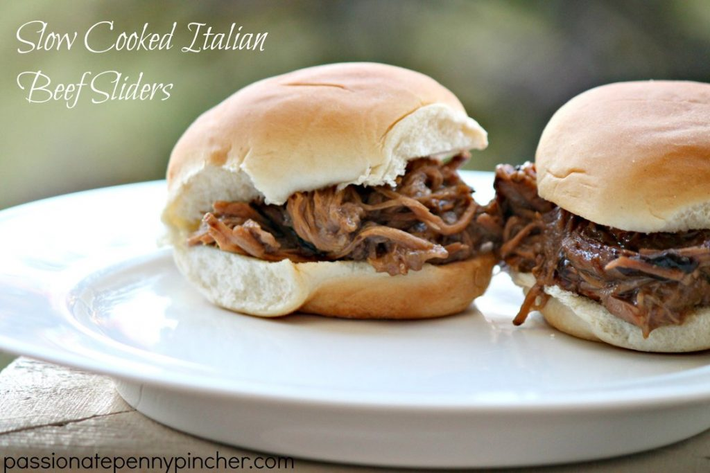 Slow Cooked Italian Beef Sliders