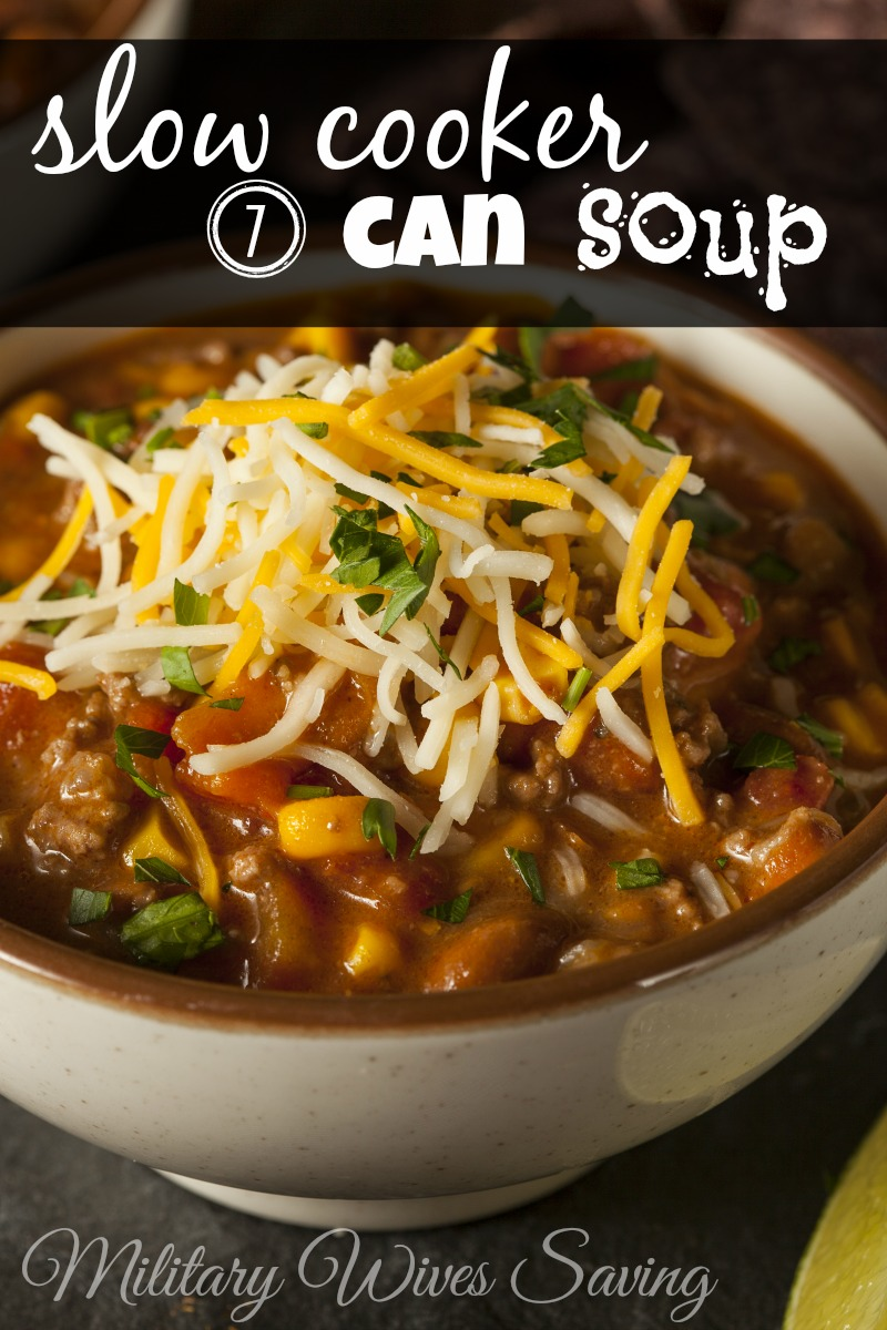 Slow Cooker 7-Can Soup Recipe