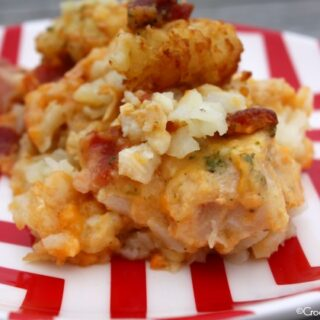 Crock-Pot Cheesy Chicken Ranch Tater Tot Casserole