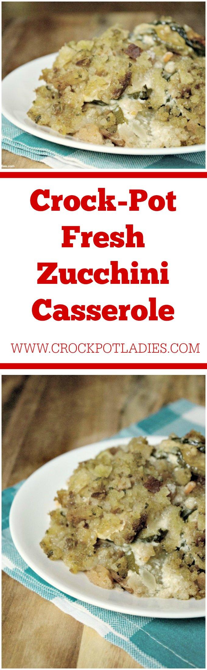 Crock-Pot Fresh Zucchini Casserole