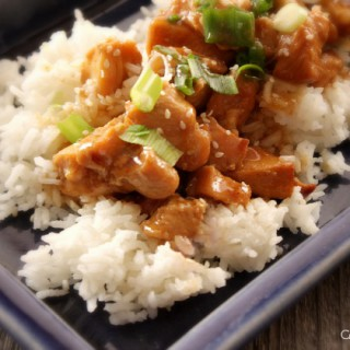 Crock-Pot Honey Sesame Chicken - This easy recipe for Crock-Pot Honey Sesame Chicken is a family favorite! Cut up chicken is sauced up with a delicious Asian inspired sauce and slow cooked.. [ Recipe from CrockPotLadies.com]