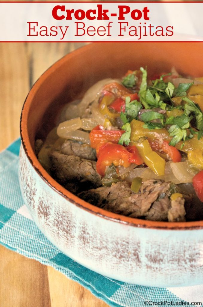 Crock-Pot Easy Beef Fajitas