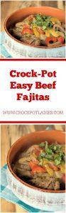 Crock-Pot Easy Beef Fajitas