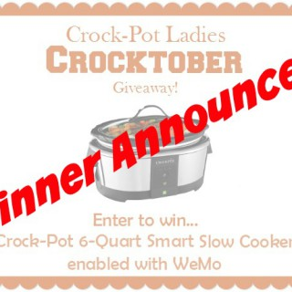 Winner Announced: Crocktober Crock-Pot Giveaway!