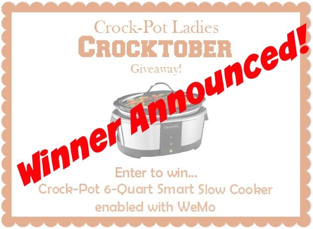Winner Announced: Crocktober Crock-Pot Giveaway!