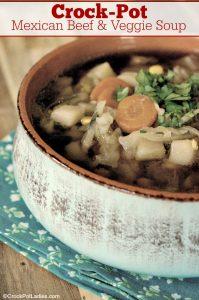 Crock-Pot Mexican Beef & Veggie Soup
