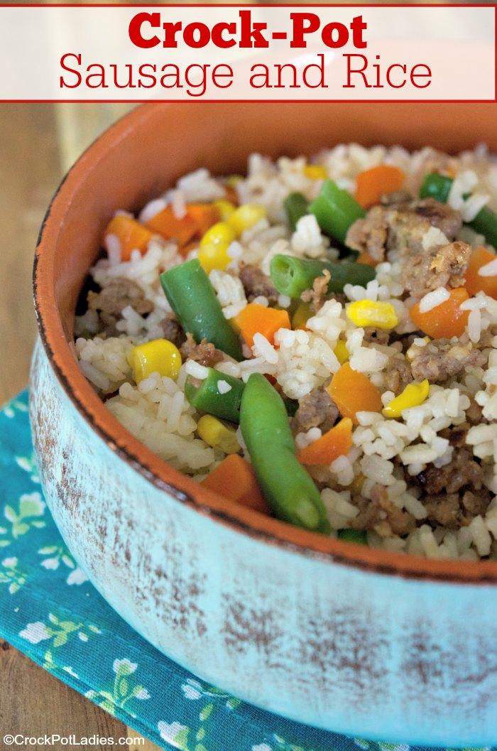 Crock-Pot Sausage and Rice