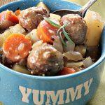 Crock-Pot Meatball Beef Stew