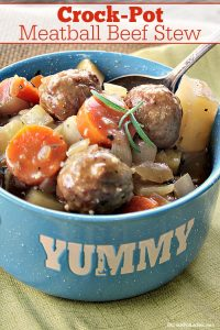 Crock-Pot Meatball Beef Stew