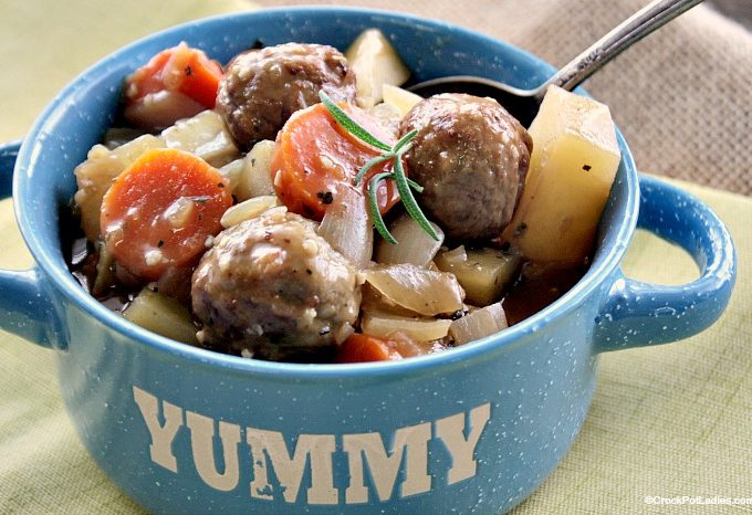 Crock-Pot Meatball Beef Stew + Video