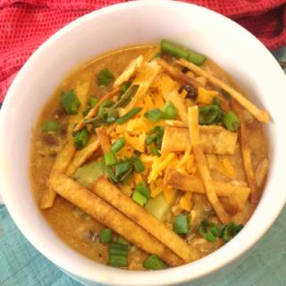 Crock-Pot Creamy Chicken Tortilla Soup