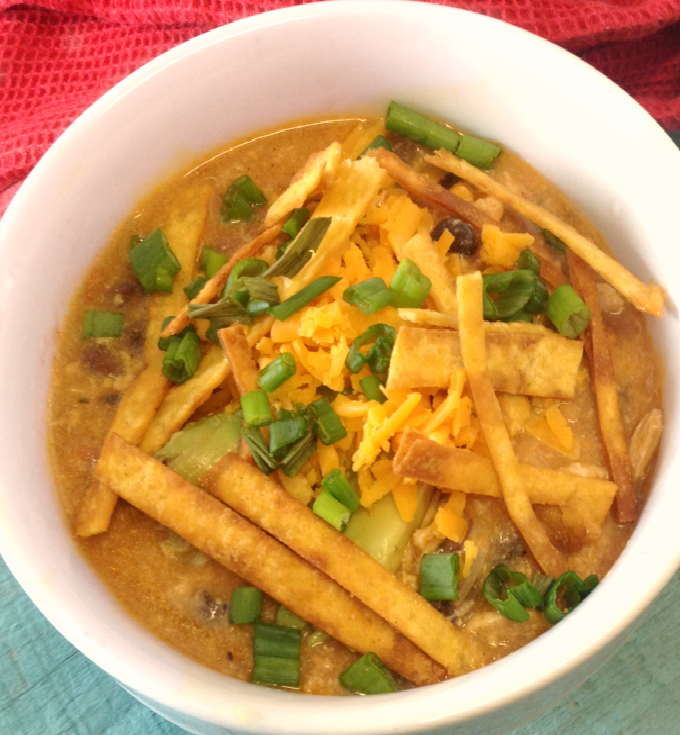 Crock-Pot Creamy Chicken Tortilla Soup