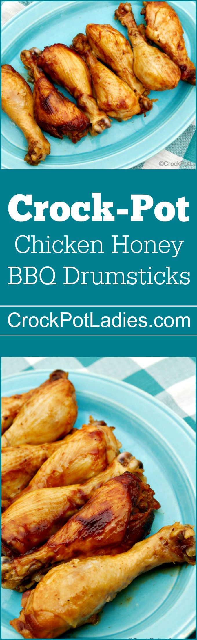 Crock-Pot Chicken Honey BBQ Drumsticks - With just three ingredients (chicken legs, barbecue sauce and honey) this recipe for Crock-Pot Chicken Honey BBQ Drumsticks is sure to please everyone!