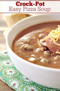 Crock-Pot Easy Pizza Soup