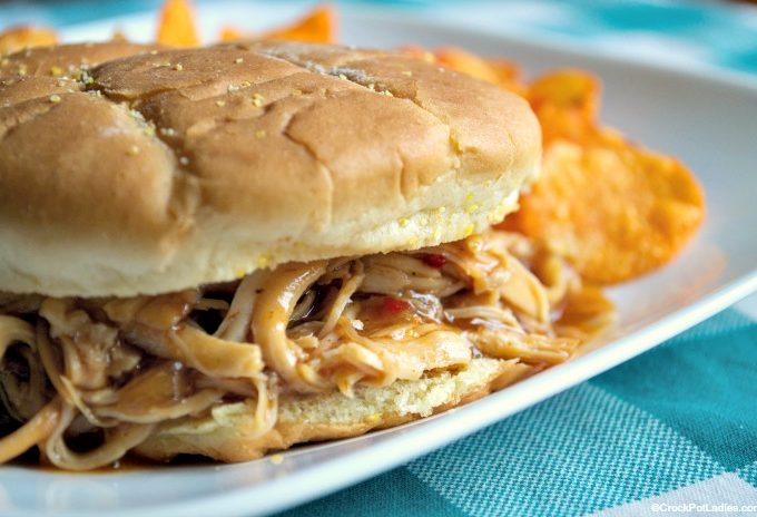 Crock-Pot Honey BBQ Chicken Sandwiches