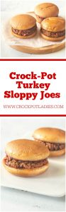 Crock-Pot Turkey Sloppy Joes
