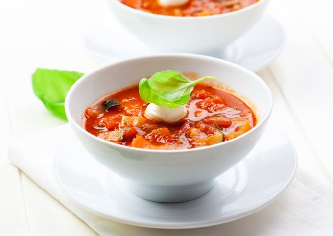 Crock-Pot Veggie Loaded Minestrone Soup