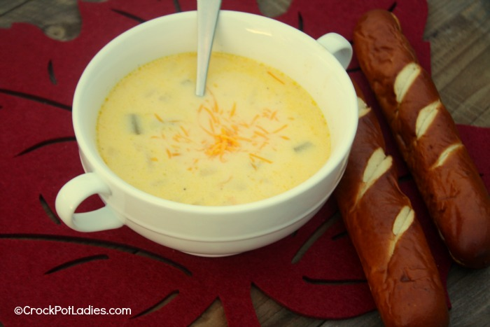 Crock-Pot Cheddar Beer Soup