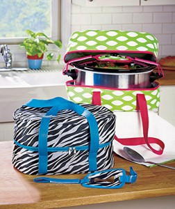 Crock-Pot Lovers Holiday Gift Guide: Slow Cooker Carrying Case Fits Slow Cooker and Lid up to 6 Quarts