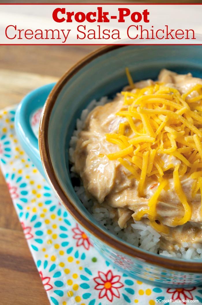 Crock-Pot Creamy Salsa Chicken