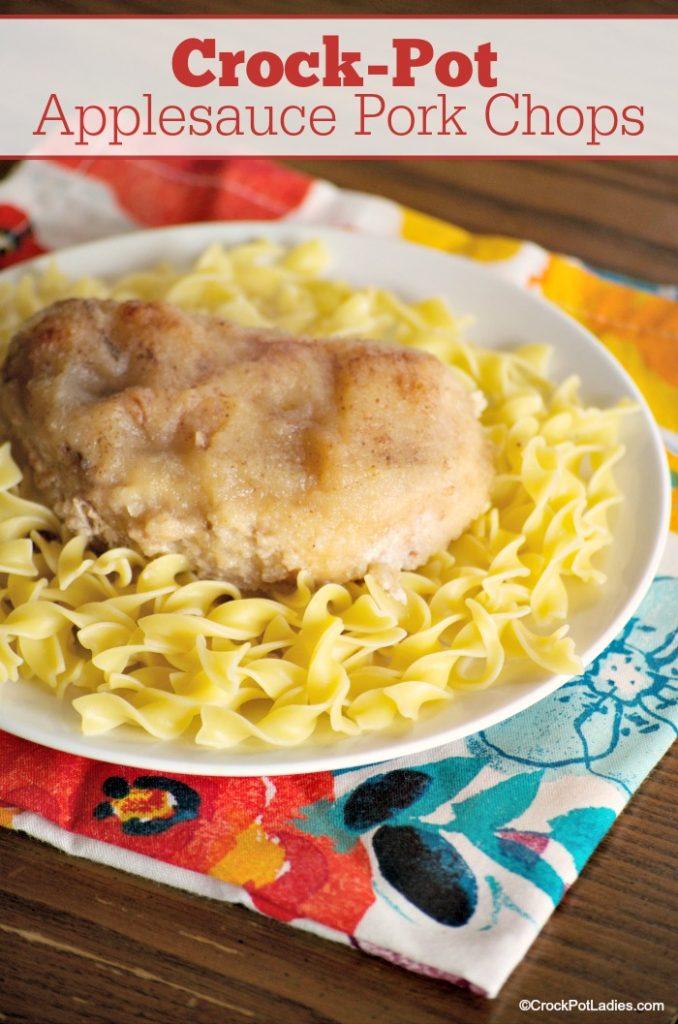 Crock-Pot Applesauce Pork Chops