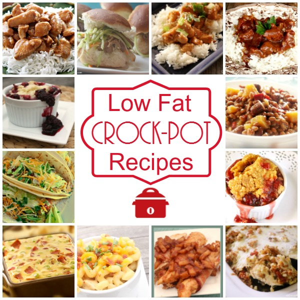 Low Fat Crock-Pot Recipes - Eat healthy with this collection of over 90 Low Fat Crock-Pot Recipes. Each recipe has under 15 grams of fat per serving! via @CrockPotLadies