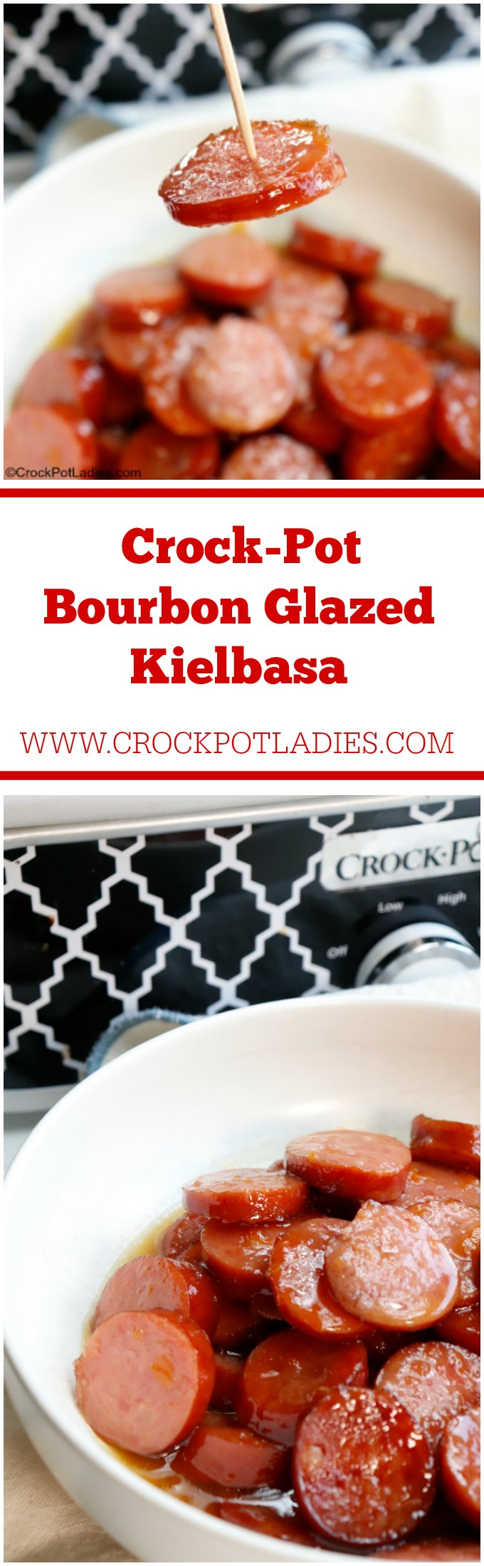 Crock-Pot Bourbon Glazed Kielbasa