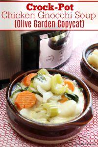 Crock-Pot Chicken Gnocchi Soup (Olive Garden Copycat)
