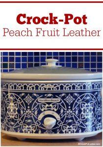Crock-Pot Peach Fruit Leather