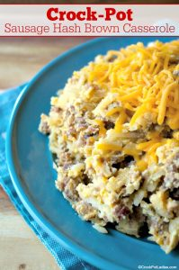 Crock-Pot Sausage Hash Brown Casserole