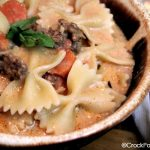 Crock-Pot Creamy Italian Sausage Soup with Pasta - Warm up to a bowl of this delicious and hearty Crock-Pot Creamy Italian Sausage Soup with Pasta. This soup provides all the flavors of Italy in a lovely soup that really hits the spot on a cold winter day! [recipe from CrockPotLadies.com]