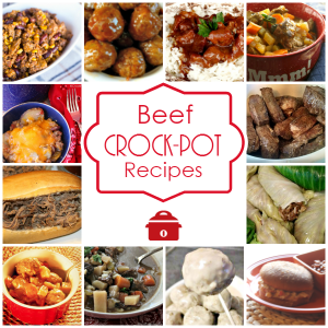 Beef Crock-Pot Recipes - Warm up to a hearty meal with these Slow Cooker Beef Recipes. From main dishes, appetizers, soups, stews and more! Over 120 beefy recipes! | CrockPotLadies.com