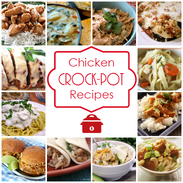 Chicken Crock-Pot Recipes - Let your slow cooker go to work with these easy Crock-Pot chicken recipes. Hearty main dish recipes, warm soups, fun appetizers and more! Over 140 recipes! | CrockPotLadies.com