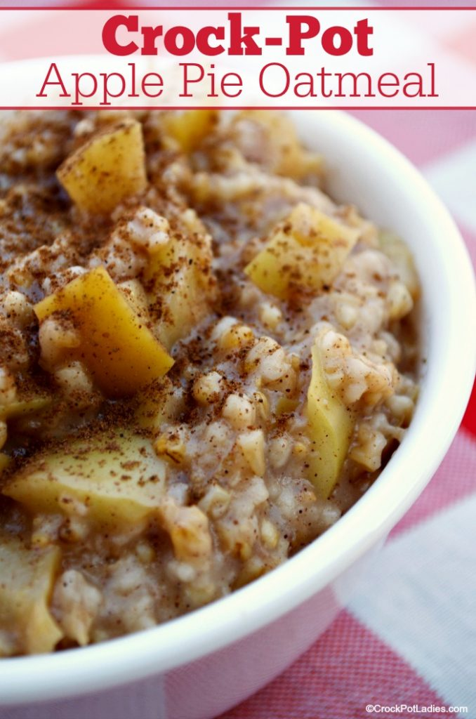 Crock-Pot Apple Pie Oatmeal