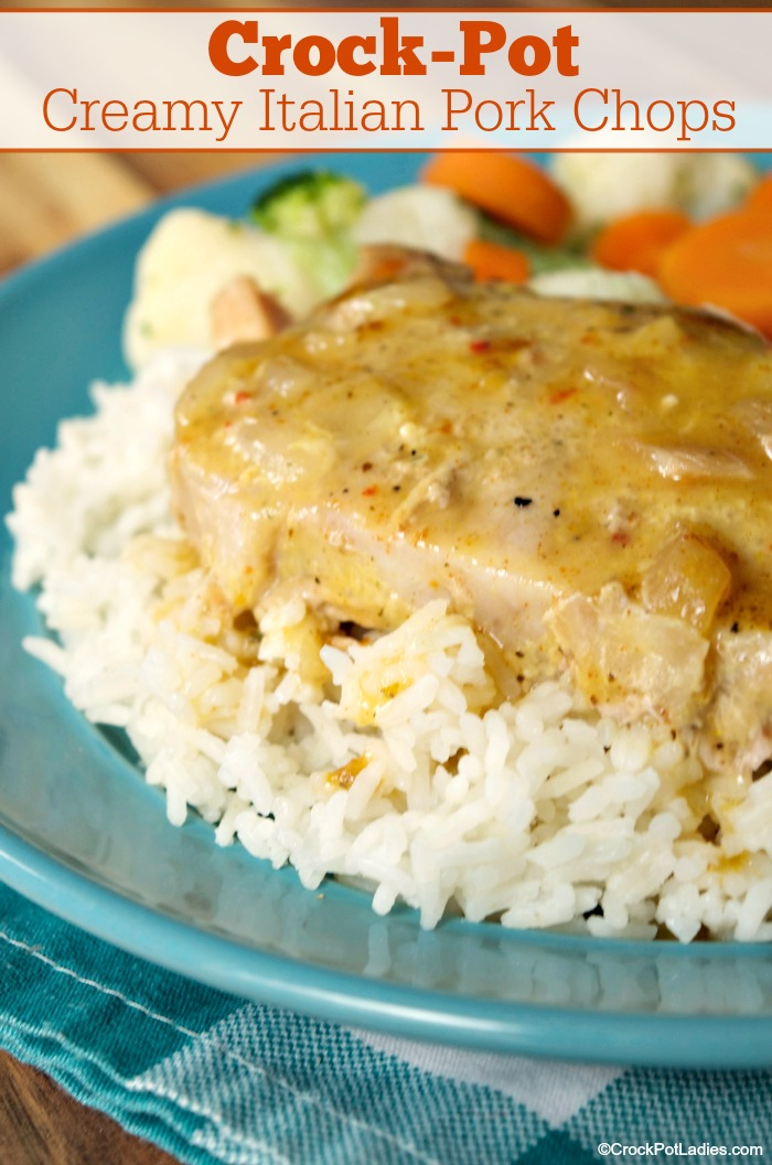 Crock Pot Creamy Italian Pork Chops With Just 5 Ingrents This Quick And Easy