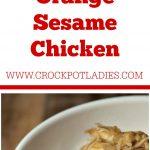 Crock-Pot Orange Sesame Chicken