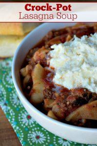 Crock-Pot Lasagna Soup