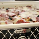 Crock-Pot Pizza Pasta Casserole - Make this kid friendly Crock-Pot Pizza Pasta Casserole for dinner and watch the smiles across your kids faces as they dig into this pasta casserole that has all their favorite pizza toppings inside! Pepperoni, Italian sausage, Canadian bacon, olives...whatever you like this recipe is easily customized to suit your tastes! | CrockPotLadies.com
