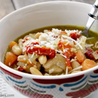 Crock-Pot Pesto Bean Soup