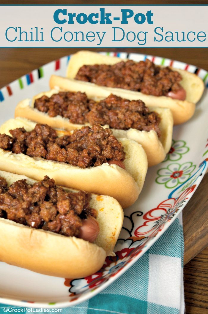 Crock Pot Chili Coney Dog Sauce Recipe