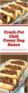 Crock-Pot Chili Coney Dog Sauce
