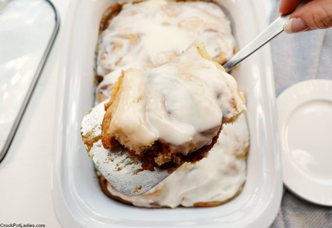 Crock-Pot Ooey Gooey Cinnamon Rolls