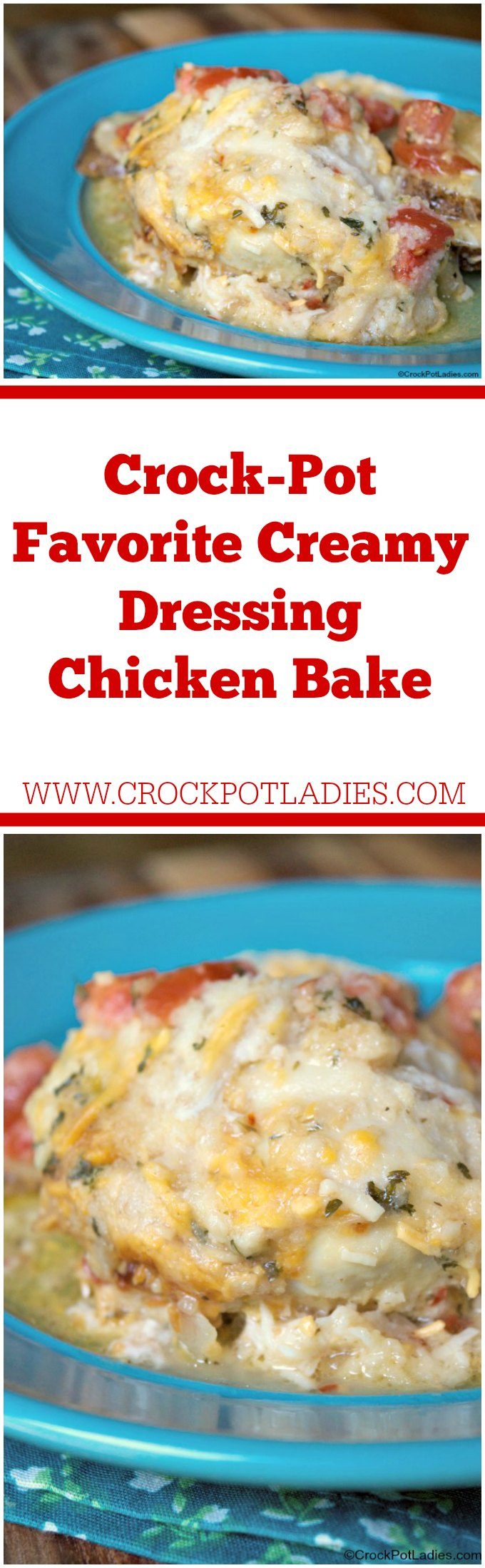 Crock-Pot Favorite Creamy Dressing Chicken Bake