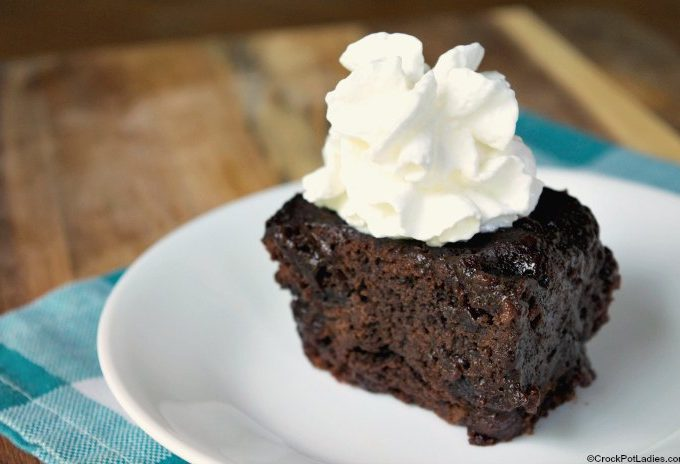 Crock-Pot Hot Fudge Brownies